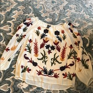 Chelsea and Theodore floral top